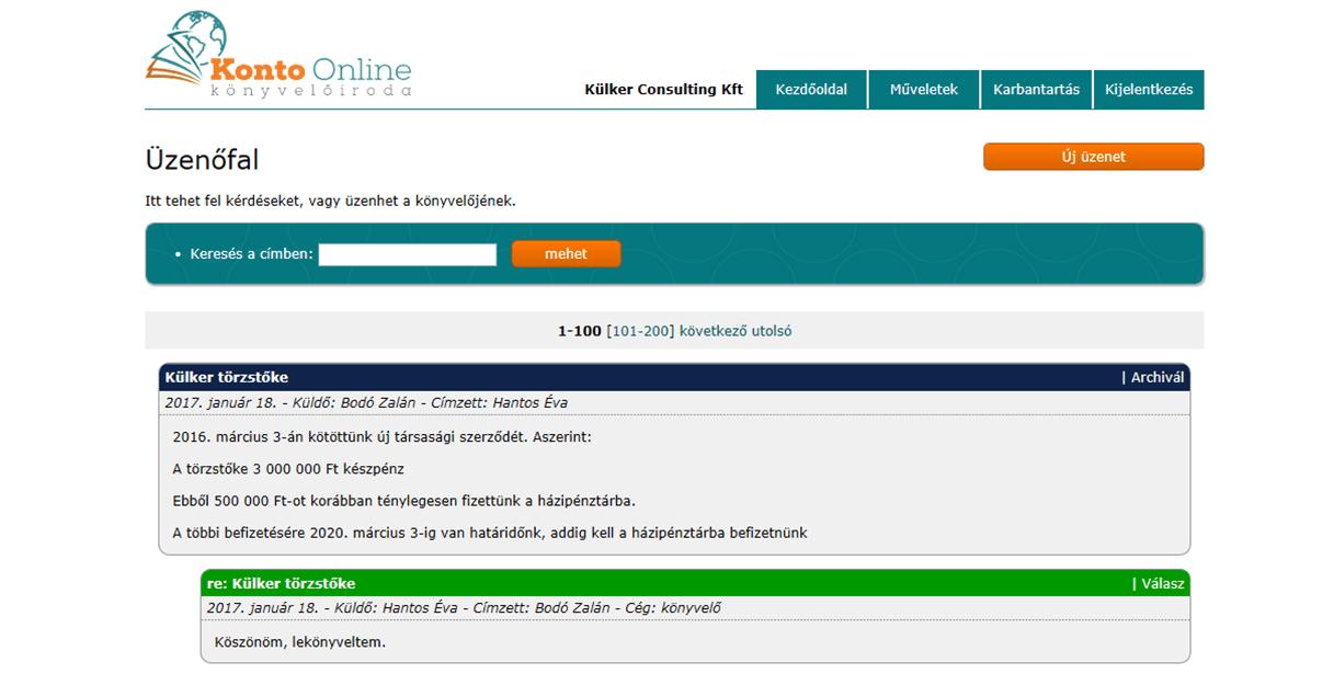 Online könyvelés ingyen